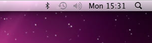 An unmanaged menu bar in OS X
